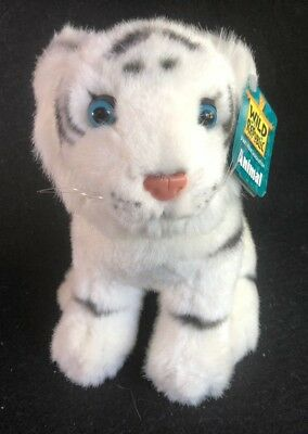 Plush Siberian White Tiger Stuffed Animal Wild Republic Blue eyes 8.5""