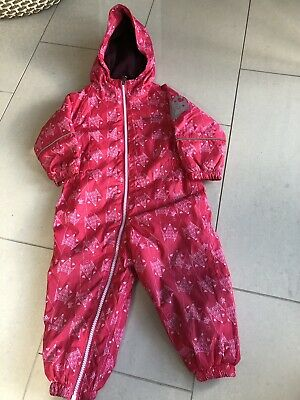 REGATTA PUDDLE KIDS RAIN SUIT WATERPROOF ALL IN ONE, SIZE 12-18 Months