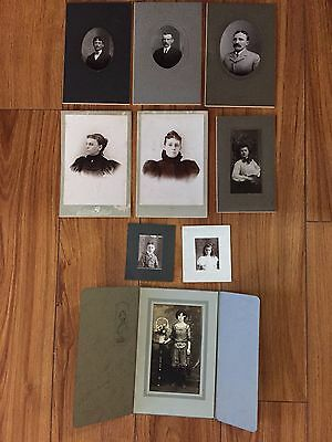 Vintage Cabinet Cards, Quakertown PA 9 Assorted Men,Women,Children C.1900's