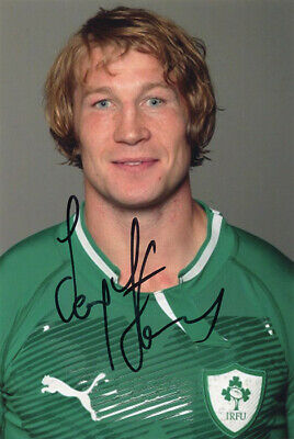 Jerry Flannery, Munster & Ireland rugby union, signed 6x4 inch photo. COA.