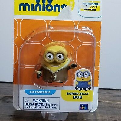 Despicable Me Minions Bored Silly Bob Poseable Mini Action Figure Toy NEW