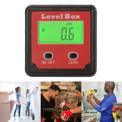 360° Digital Box Gauge Angle Level Finder Inclinometer Magnetic Base + Bag BI734