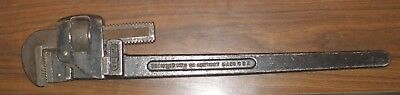 """Trimont Vintage Pipe Wrench Trimo 24"""" Alloy Size 24"""" Drop-Forged Usa Made"""