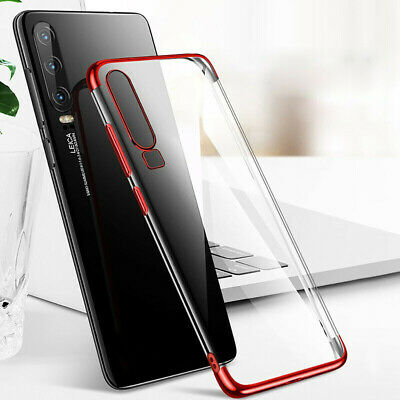 Durable TPU Hybrid Plating Phone Case Cover Clear for Huawei P30 Pro P30 Lite