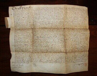 Historic 1706 Vellum Pennsylvania Land Deed, Jacob Coffing and Rice Peters