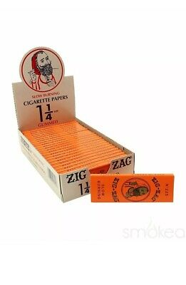Zig Zag 🍊🍊Orange Cigarette Rolling Papers 24 Packs 32 Papers Pack 1 1/4