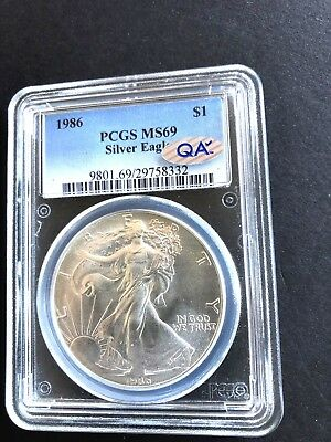 1986 American Silver Eagle PCGS MS69 - QA Approved!