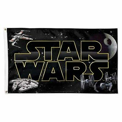 Millennium Falcon X-Wing Tie Fighter Death Star Star Wars 3'X5' Deluxe Flag New