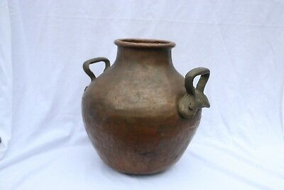 Antique Copper Cauldron Water or Cooking Pot original patina