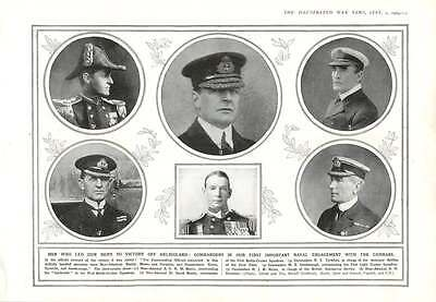 1914 Commanders Of Battle Of Heligoland Betty Moore Christian Keyes Tyrwhitt