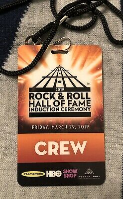 2019 Rock & Roll Hall Of Fame Induction Plastic Crew Credential / Ticket 3/29
