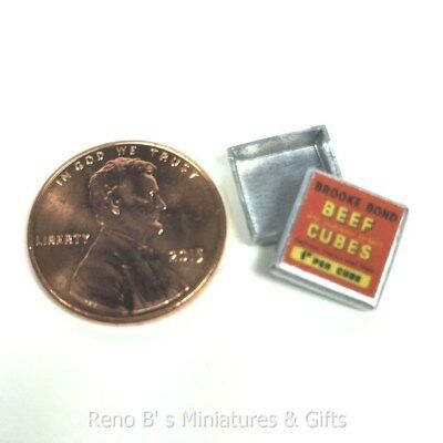 Dollhouse miniature food 1:12 Beef Cubes Tin NEW