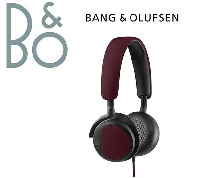 B&O Play by Bang & Olufsen Beoplay H2  On-Ear Headphones - Deep Red - NEW