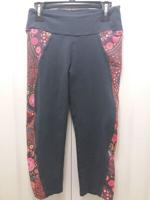 Girls  Athletic Sport Active Licra Pants Sz S Grey Multi-Color Fitness Pants EUC