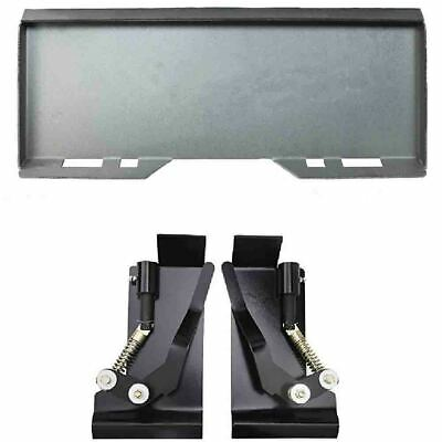"""5/16"""" Quick Attach Mount Plate with Quick Tach Latch Box Brackets For CAT Bobcat"""