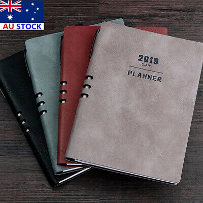 AU 2019 A5 Notebook Planner Monthly Weekly Schedule Diary Study Work Gift New