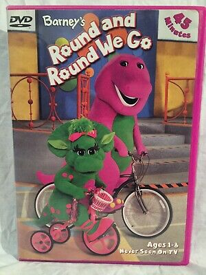 Barney's Round and Round We Go (DVD, 1983/2002, Ages 1-8) Wheels-Transportation