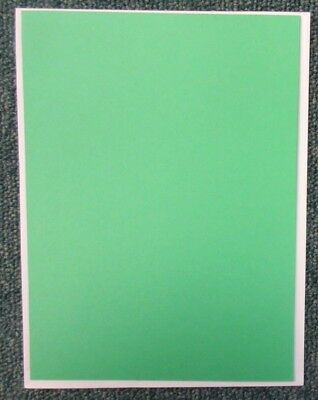 5 Single Fold, No Aperture Craft Cards & Envelopes - 4x6 inch - Green