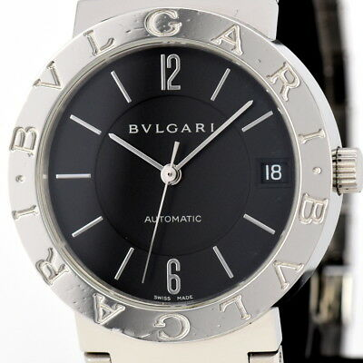 Aut BVLGARI BB33SS AUTO Date Stainless Steel Automatic Men's Watch A#82550