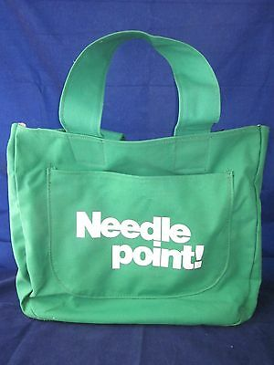 Design Express Needle point! Needlepoint Canvas Tote Bag Lincoln Nebraska ~ EXC