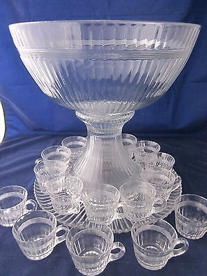 Heisey Banded Flute Clear Wine Glass