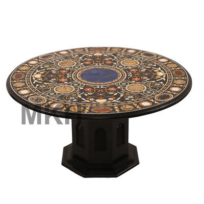 Marble Coffee Tables Stone Inlay End Table Top Vintage Mid Century Pedestal
