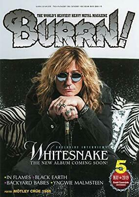 BURRN! May 2019 issue Japan Metal Music Magazine WHITESNAKE Cover
