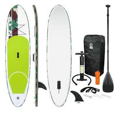 Surfboard stand up paddle sup board pagaia gonfiabile 308x76x10 cm colore verde