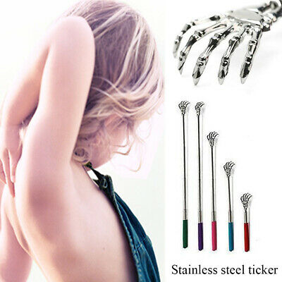 Hand Claw Telescopic Back Scratcher Massager Stainless Steel Self Itching Relief