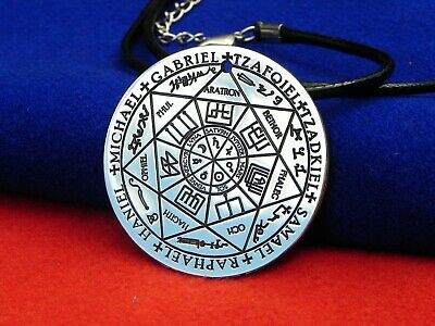 SIGIL OF SEVEN Archangels Pendant Necklace Stainless Steel