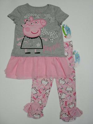 NEW PEPPA PIG TODDLER GIRLS/' BALLERINA 4-PIECE COTTON PAJAMA SET PJ K203261PP