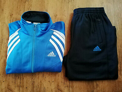 Adidas Trainingsanzug Jungen Trainingsjacke Trainingshose hellblau blau NEU