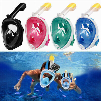 2019 New Version Full Face Diving Snorkel Mask Swimming Scuba Anti-Fog Kid Adult