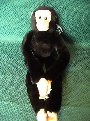 """Wild Republic Chester Zoo Chimp Soft Toy 16"""" approx with tatty  tag"""