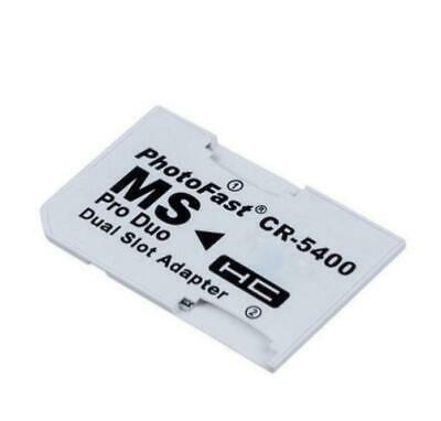 Dual Micro SD to PRO DUO Memory Stick Adapter for PSP 1003 1004 2003 2004 3003