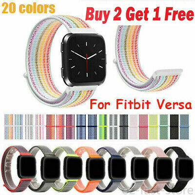 OZ Replacement Woven Nylon Loop Bracelet Sport Watch Band Strap For Fitbit Versa