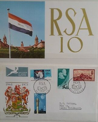 1971 South West Africa SWA Ten Golden Years + Antarctic Treaty FDC 31 May 3 Sets