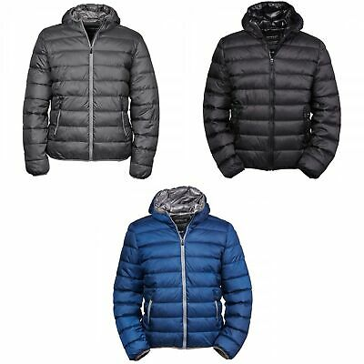 Tee Jays Mens Hooded Padded Full Zip Breathable Winter Zepelin (BC3338)