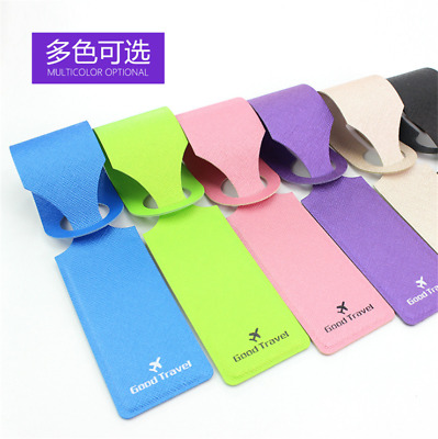 Premium Travel PU Leather Luggage Tag Boarding Tag Label Creative Accessories