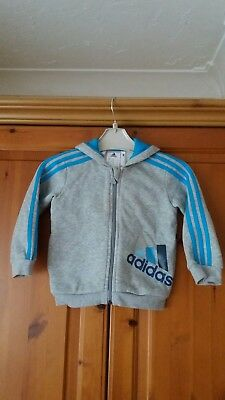 Adidas Grey Tracksuit Top Hoodie Aged 9-12 Months. Absolutely Immaculate.