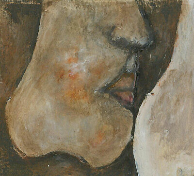 Ben Carrivick - Signed Contemporary Oil, Abstract Face