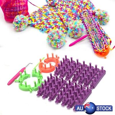 Flexible Knitting Loom Set Craft DIY Tool Kit Sock Scarf Hat Sweater Maker