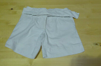 Next Girls Off White Linen Mix Shorts Age 7 years