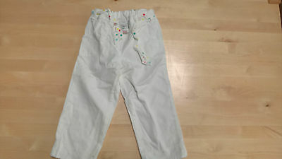 Next Girls Capri Trousers - Age 5-6 - White with Spotty Belt Tie