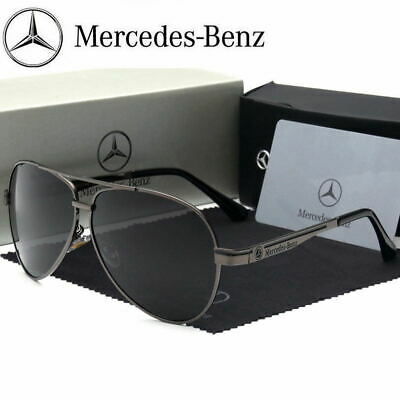 Luxury Benz Polarized Sunglasses Men Aviator Driving Sunglasses Outdoor Sports