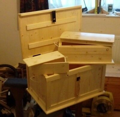 Neil Butcher:Set of three chests / trunks, english