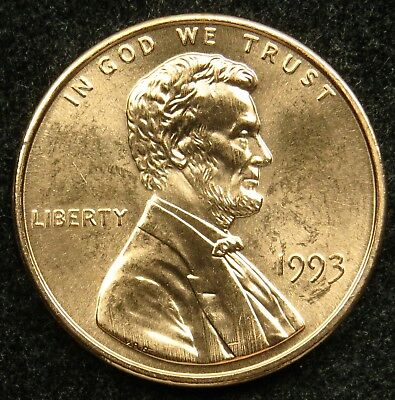 1993 Uncirculated Lincoln Memorial Cent Penny BU (B05)