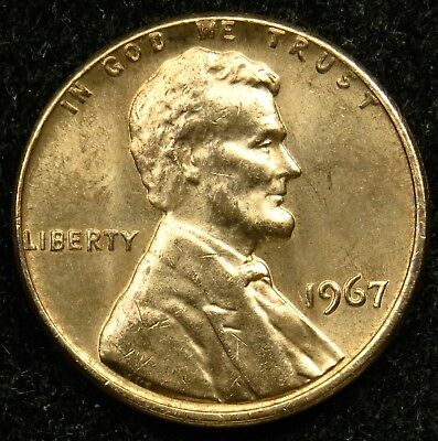 1967 Uncirculated Lincoln Memorial Cent Penny BU (B02)