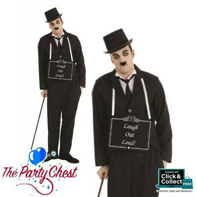 ADULT SILENT MOVIE STAR COSTUME 1920s Movie Star Charlie Fancy Dress Outfit 4146
