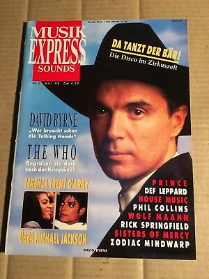 Musik Express  5 / 1988 - David Byrne / The Who / Def Leppard / Prince   (Dz105)